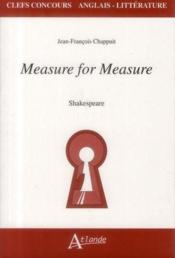 Vente livre :  Measure for measure  - Jean-Francois Chappuit