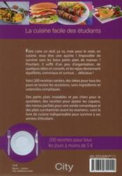 La cuisine des étudiants - 4ème de couverture - Format classique