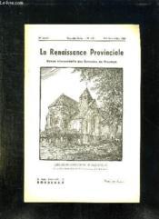 La Renaissance Provinciale N° 110 Mai Juin Juillet 1955 L Eglise De Chalmaison En Brie Vineuse. - Couverture - Format classique