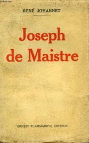 Joseph De Maistre. - Couverture - Format classique