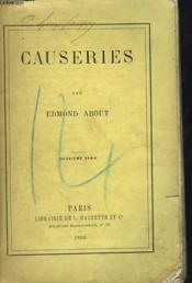 Causeries - Couverture - Format classique