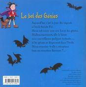 Mona Le Vampire ; Le Bal Des Genies - 4ème de couverture - Format classique