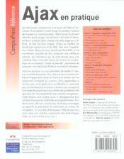 Ajax En Pratique - 4ème de couverture - Format classique
