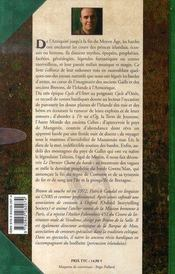 Le dernier chant du barde et autres histoires - 4ème de couverture - Format classique