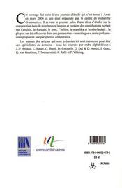 Composition Dans Une Perspective Typologique - 4ème de couverture - Format classique