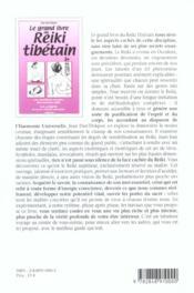 Grand Livre Du Reiki Tibetain (Le) - 4ème de couverture - Format classique