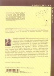 Pratiques sociales et didactique des langues ; études offertes à claude vargas - 4ème de couverture - Format classique