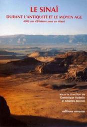 Le Sinai durant l'antiquite et le moyen-age ; 4000 ans d'histoire pour un desert - Couverture - Format classique