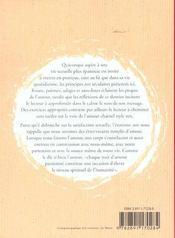 Zen Sexe ; Une Approche Spirituelle De La Sexualite - 4ème de couverture - Format classique