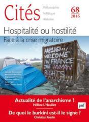 Revue Cites T.68 ; Hospitalité, Hostilité ; Face A La Crise Migratoire - Couverture - Format classique
