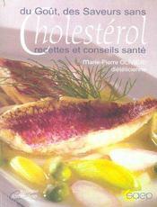 Du gout, des saveurs sans cholesterol ; recettes et conseils sante - Intérieur - Format classique