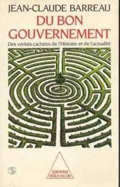 Du Bon Gouvernement - Couverture - Format classique