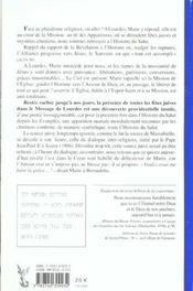 Lourdes Dans L'Histoire Du Salut - 4ème de couverture - Format classique
