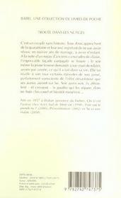Trouee Dans Les Nuages - 4ème de couverture - Format classique