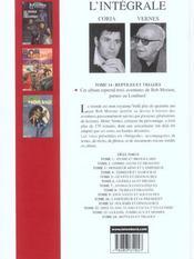 Bob Morane ; intégrale t.14 ; reptiles et triades - 4ème de couverture - Format classique