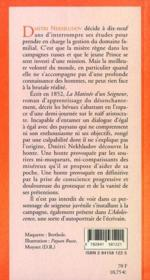 La Matinee D'Un Seigneur - 4ème de couverture - Format classique