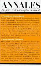 Annales d'histoire et de philosophie du vivant t.2 - Couverture - Format classique