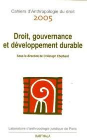 Droit, gouvernance et développement durable - Couverture - Format classique