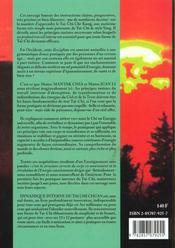 Dynamique interne du tai chi ; circulation de l'énergie dans le corps en mouvement - 4ème de couverture - Format classique