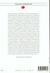 Dictionnaire du graphisme - 4ème de couverture - Format classique
