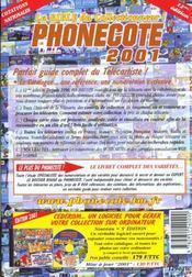 Phonecote 2001 - 4ème de couverture - Format classique