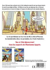 Tao et Zoé découvrent l'ancienne Egypte - 4ème de couverture - Format classique
