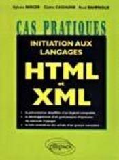 Initiation Aux Langages Html Et Xml - Intérieur - Format classique