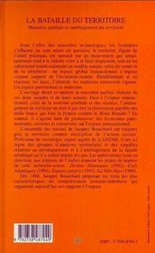 La Bataille Du Territoire ; Mutation Spatiale Et Amenagement Du Territoire - 4ème de couverture - Format classique