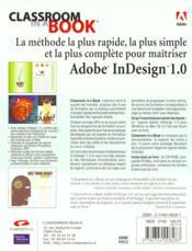 Adobe Indesign 1.0 ; Classroom In Abook - 4ème de couverture - Format classique
