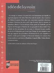 Idee De La Voix - 4ème de couverture - Format classique