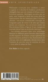 Saint Augustin ; le temps de Dieu - 4ème de couverture - Format classique