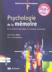Psychologie De La Memoire - Intérieur - Format classique