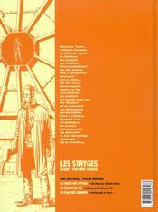Le Chant Des Stryges T.5 ; Vestiges - 4ème de couverture - Format classique