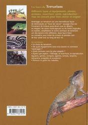Bases du terrarium - 4ème de couverture - Format classique