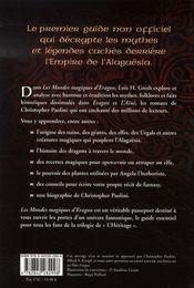 Les mondes magiques d'eragon - 4ème de couverture - Format classique