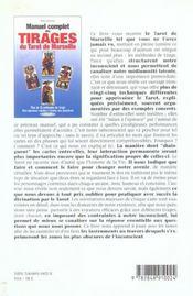 Manuel Complet Des Tirages Du Tarot De Marseille - 4ème de couverture - Format classique
