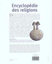 Encyclopedie des religions - 4ème de couverture - Format classique