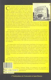 Les Temporalites Des Villes - 4ème de couverture - Format classique