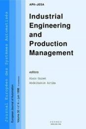 Industrial engineering and production management jesa volume 32 n 4 juin 1998 - Couverture - Format classique