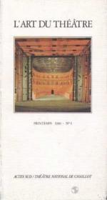 L'art du theatre printemps 1986 no 4 - Couverture - Format classique
