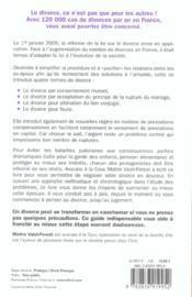 Divorce (bien negocier son), ne 2005 (édition 2005) - 4ème de couverture - Format classique