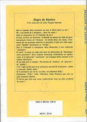 Eloges Du Mystere - 4ème de couverture - Format classique