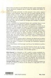 Le roman des glières ; la résistance des républicains espagnols au plateau des glières - 4ème de couverture - Format classique