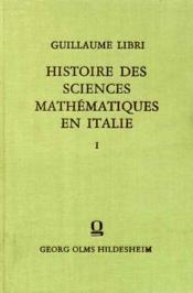 Histoire des sciences mathématiques en Italie. - Couverture - Format classique