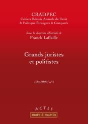 Grands juristes et politistes - Couverture - Format classique