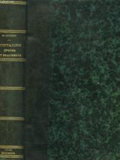 Montaigne, Etudes Et Fragments. - Couverture - Format classique