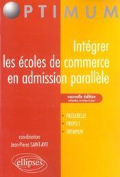 Integrer Les Grandes Ecoles De Commerce En Admission Parallele Passerelle Profil Tremplin 2e Edition - Intérieur - Format classique