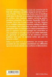 Integrer Les Grandes Ecoles De Commerce En Admission Parallele Passerelle Profil Tremplin 2e Edition - 4ème de couverture - Format classique