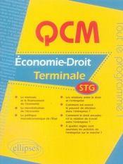 Qcm économie-droit ; terminale stg ; bac 2007 - Intérieur - Format classique