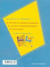 Qcm économie-droit ; terminale stg ; bac 2007 - 4ème de couverture - Format classique